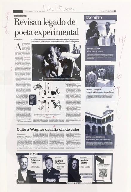 Carlos Amorales, 'Primera Nota Excelsior', 2013, Sapar Contemporary