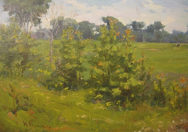 Nadezhda Eliseevna Chernikova, 'Green Spring', 1955, Surikov Foundation
