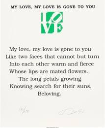 Robert Indiana, 'The Book of Love Poem - My Love, My Love is Gone to You,' 1996, Heritage Auctions: Valentine's Day Prints & Multiples