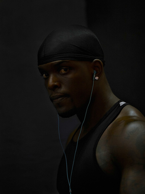 , 'Man with Earphones and Do-Rag, 42nd Street,' 2008, Pace/MacGill Gallery