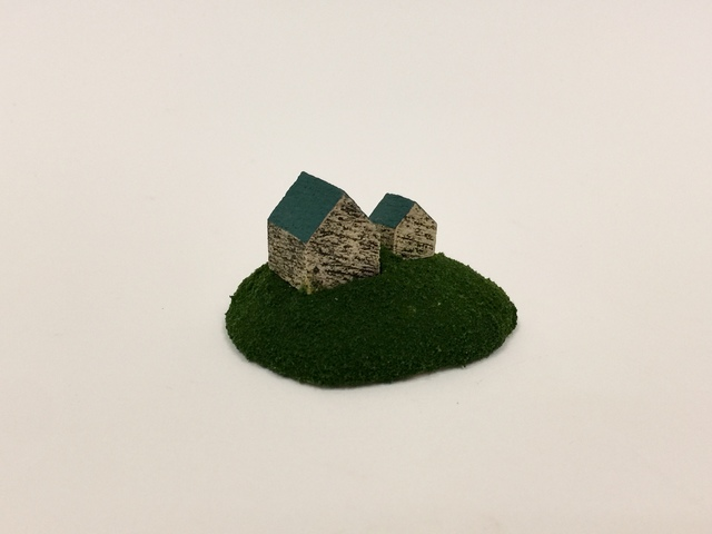 """, 'Housing Market Series 5: """"I have a perfect house for you. It comes with a small guest house. You can use it for your art studio or you can start your own B & B business. Possibilities are endless!"""" ,' 2018, Adah Rose Gallery"""