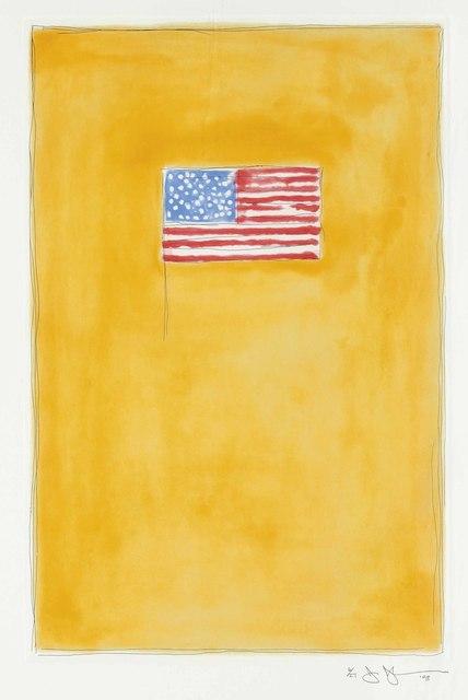 Jasper Johns, 'Flag on Orange', 1998, Christie's