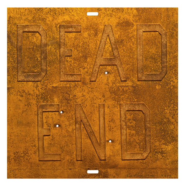 Ed Ruscha, 'Rusty Signs - Dead End 2', 2014, Jonathan Novak Contemporary Art