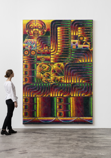 , 'sfinksen og den pansrede jomfru (selvportræt som jeanne d'arc) I,' 2018, Galleri Nicolai Wallner