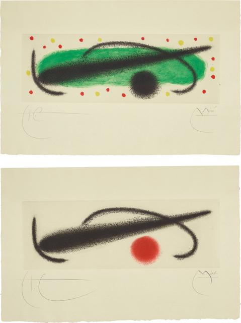 Joan Miró, 'Fusée (Rocket): two plates', 1959, Phillips
