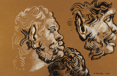 Heads of Satyrs