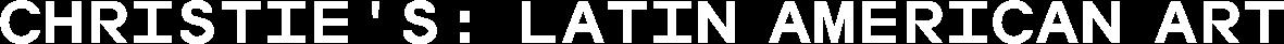 Christie's: Latin American Art (November 2018)