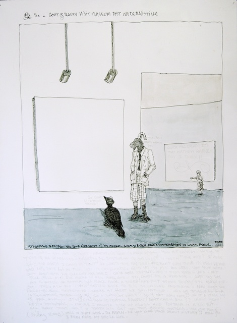 , 'Goat and Raven Visit Museum Post Modernisticle,' 2009, Hosfelt Gallery