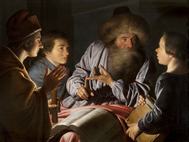 , 'A Philosopher and his Pupils,' 1626, The National Gallery, London