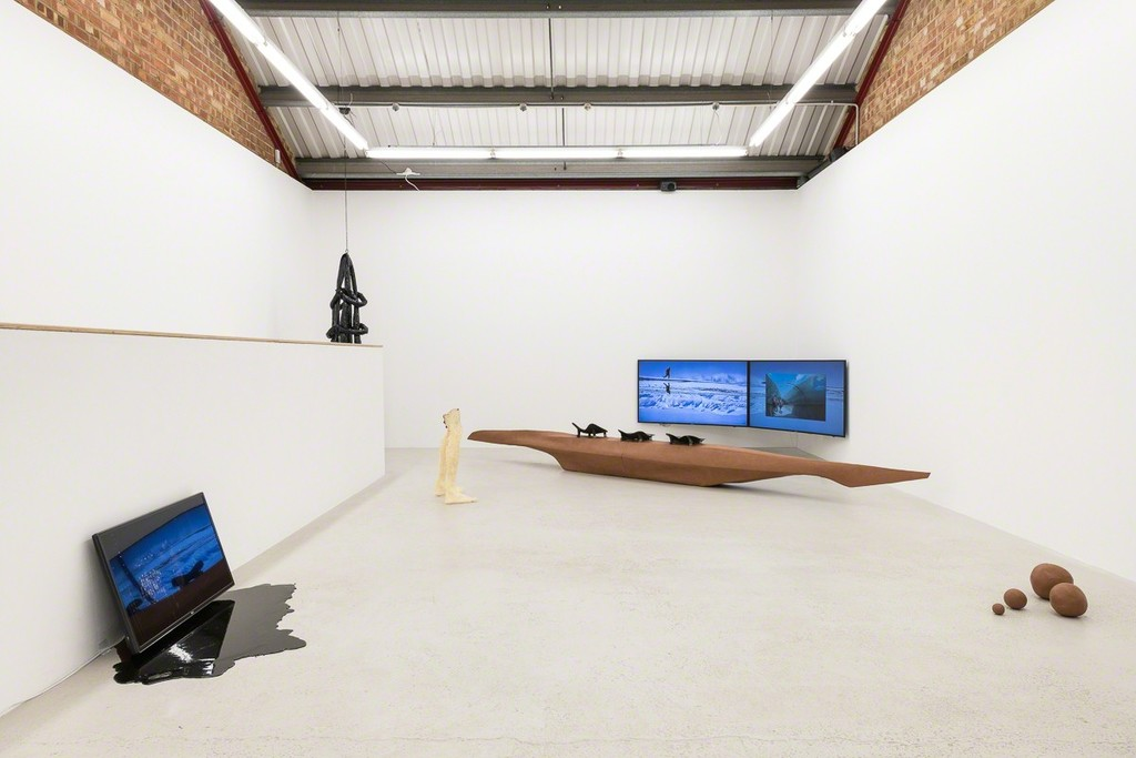 Installation view of Michal Plata 'Cacotopia 02' at Annka Kultys Gallery, London 2018. Photo: Annka Kultys Gallery (Damian Griffiths)