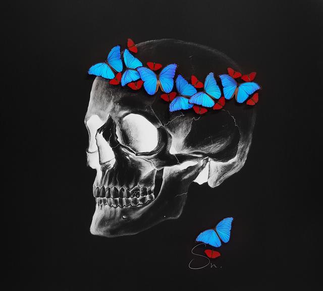SN, 'Negative skull (Red-Blue)', 2017, Eden Fine Art