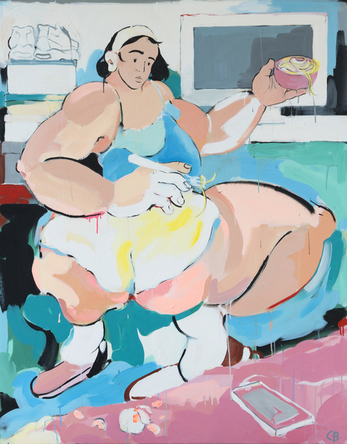 , 'Carbonara Text,' 2018, Kristin Hjellegjerde Gallery