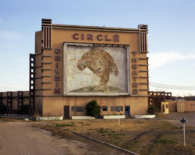 , 'Circle Drive-In Theater, Waco, Texas, January 7,' 1981, Kopeikin Gallery