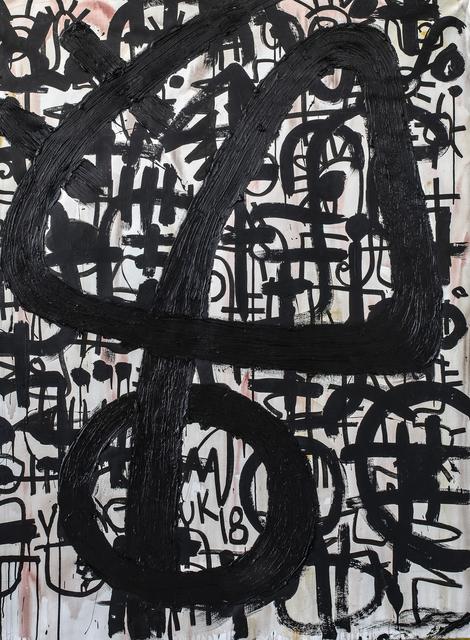 Victor Ekpuk, 'Composition in Black 1', 2019, Aicon Gallery