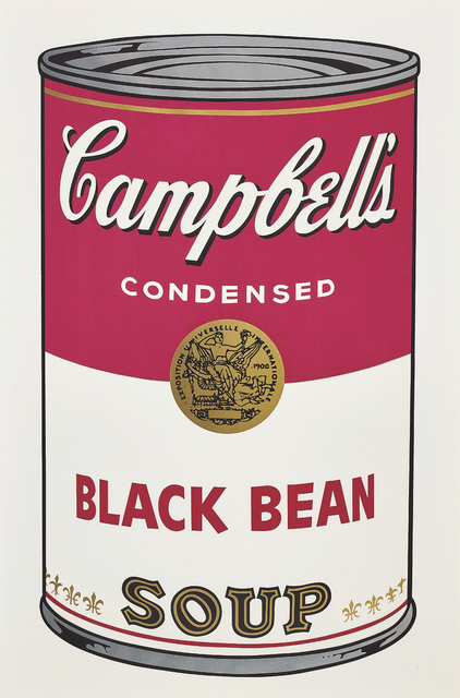 Andy Warhol, 'Black Bean, from Campbell's Soup I', 1968, Print, Screenprint in colours, on wove paper, with full margins., Phillips