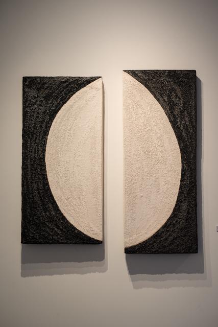 , 'Black & White Half Moon Diptych,' , Thomas Riley Studio
