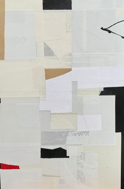 Silvia Poloto, 'Wabi Sabi', 2020, Painting, Paper, paint, collage on Panel, EDNA Contemporary