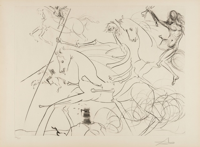 Salvador Dalí, 'The Apocalyptic Rider (M & L 722 ; Field 74-18)', 1974, Forum Auctions