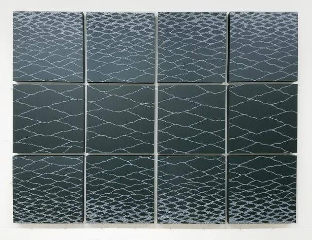 , 'White on Deep Green,' 2017, Goya Contemporary/Goya-Girl Press