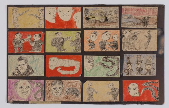 Justin McCarthy, 'Untitled (Portraits, Snakes, Interactions & Cars) ', ca. 1920's, ZQ Art Gallery