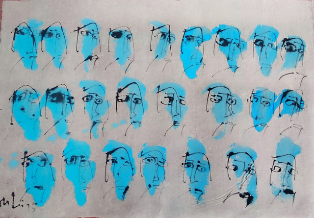 , 'My Little Happiness 18_Blue,' 2015, Art Vietnam Gallery
