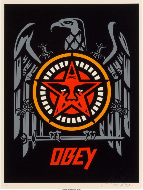 Shepard Fairey (OBEY), 'OBEY in Lesser Gods We Trust, Cash for Chaos', 2002, Heritage Auctions