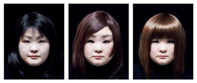 Tomoko Sawada, 'SET #14 from the series Facial Signature', 2015, Photography, Three framed digital type-C prints, ROSEGALLERY