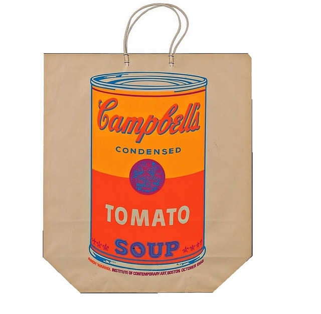 """Andy Warhol, '""""Campbell's Soup Bag"""",  1966, Exhibition at Institute of Contemporary Art Boston.', 1966, VINCE fine arts/ephemera"""
