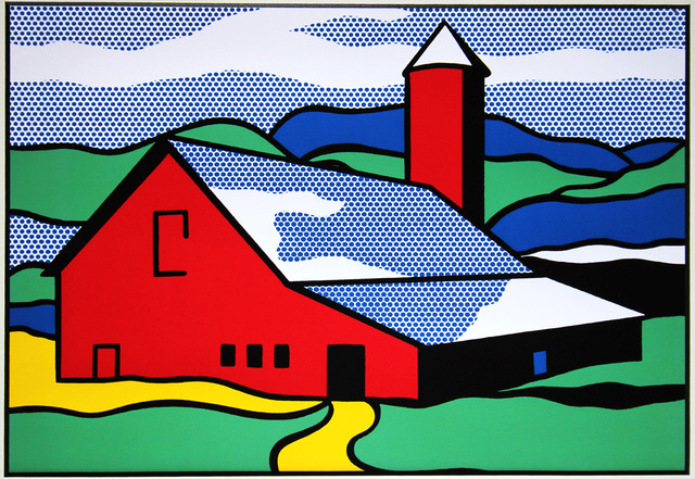 Roy Lichtenstein, 'Red Barn', 1987, Print, Color offset lithograph, mounted and unframed, EHC Fine Art Gallery Auction