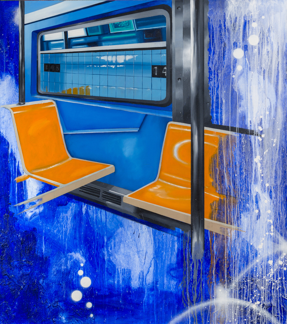 Chris DAZE Ellis, 'Uptown B Train Interior', 2017, P.P.O.W