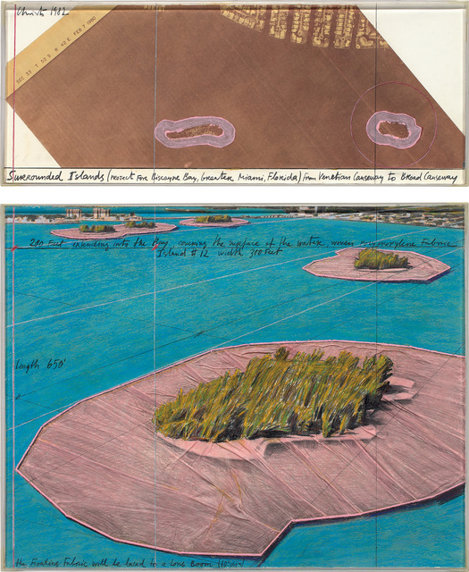 Christo, 'Surrounded Islands (Project for Biscayne Bay, Greater Miami, Florida)', 1982, Phillips