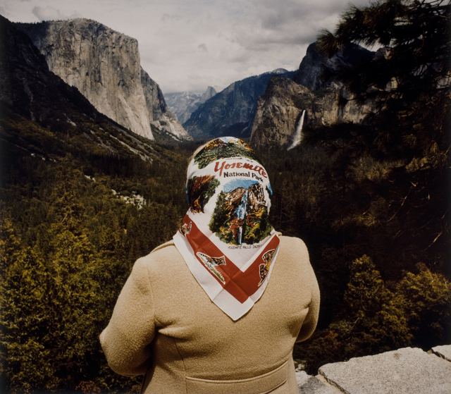 , 'Woman with Scarf at Inspiration Point, Yosemite National Park,' 1980, George Eastman Museum