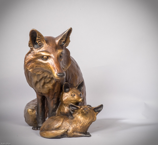 , 'Fox Family,' , WaterWorks Gallery