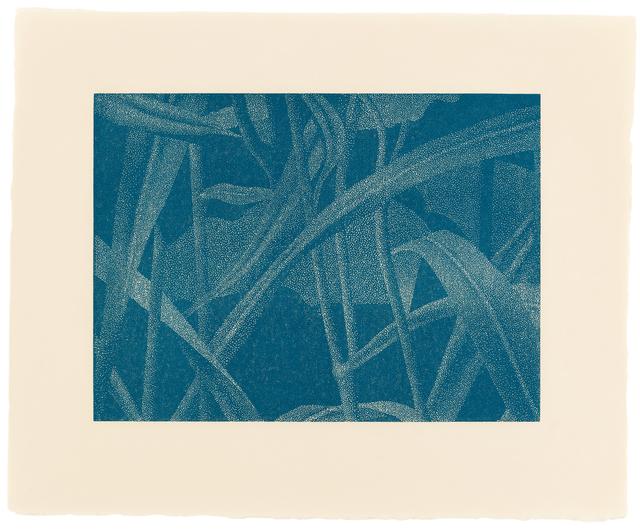 , '»Gräser I, Detail 6, Mittelblau«,' 2002, Ludorff