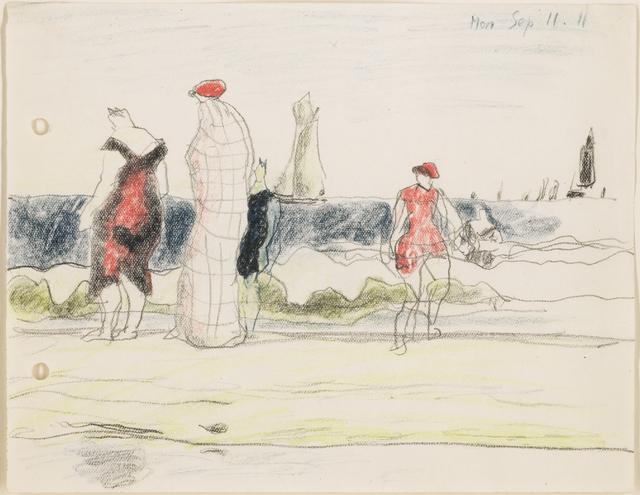 , 'Strandszene mit Badenden,' 1911, Galerie Utermann