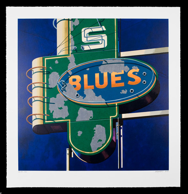 , 'Blues, from American Signs Portfolio,' 2009, IFAC Arts