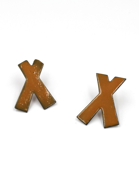, 'Orange X Marks Earrings,' 2017, Facèré Jewelry Art Gallery