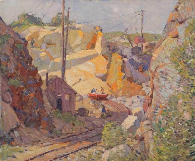 Aldro Thompson Hibbard, 'Swan Quarry, Rockport, Massachusetts', Circa early 1920s, Vose Galleries
