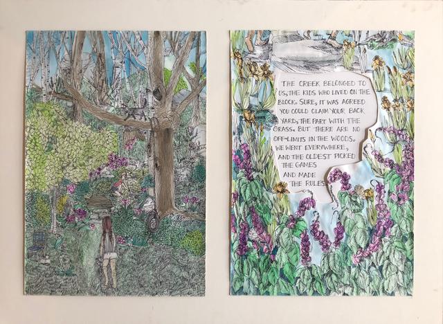 , 'Tree Book: The Creek Diptych,' 2010, Ruiz-Healy Art