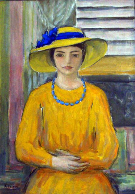 , 'Jeune fille a la robe et au chapeau jaunes,' 1920, Daphne Alazraki Fine Art