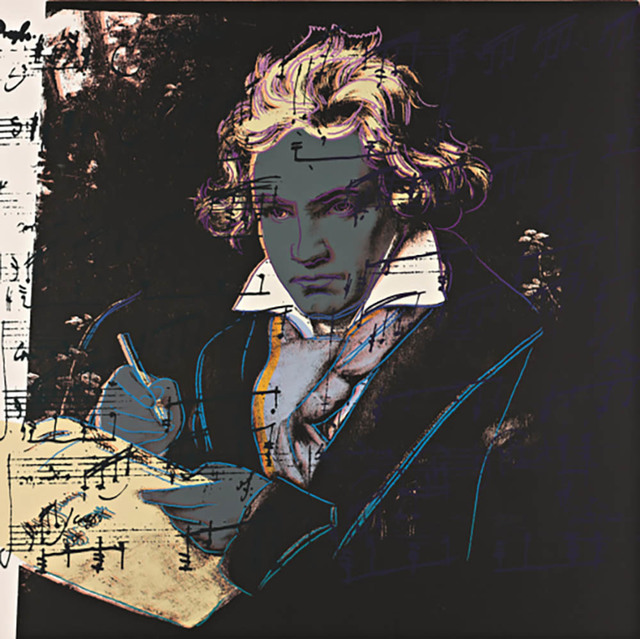 Andy Warhol, 'Beethoven, F & S II.393', 1987, Drawing, Collage or other Work on Paper, Screen print on Museum Lennox board, Andipa