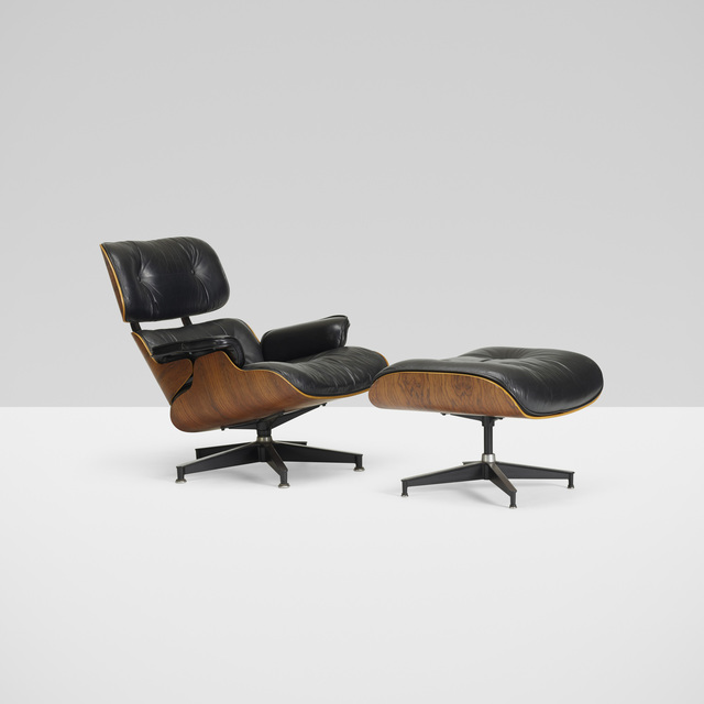 Charles And Ray Eames, U0027lounge Chair, Model 670 And Ottoman, Model 671