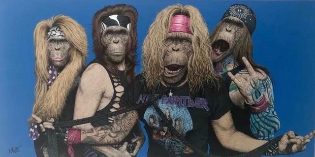 , 'Steel Monkey, the best band ever,' 2018, Design by Jaler