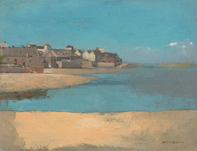 , 'Village by the Sea in Brittany,' 1880, Seattle Art Museum
