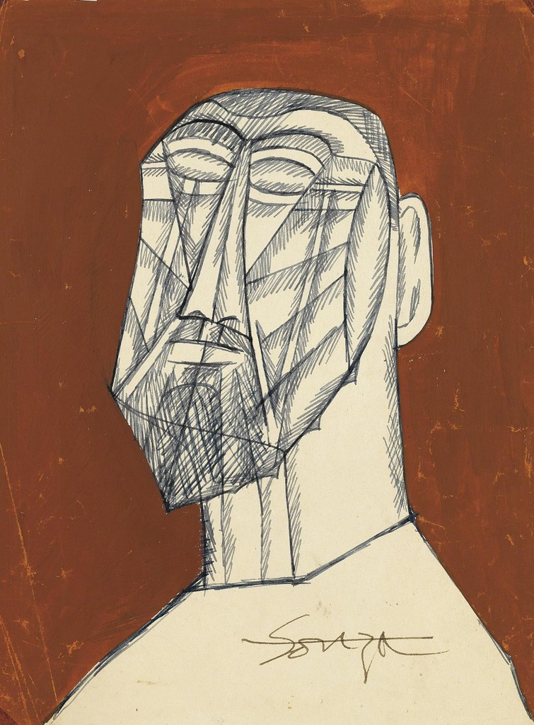 Francis Newton Souza, 'Untitled (Male Bust),' , Christie's South Asian + Chinese