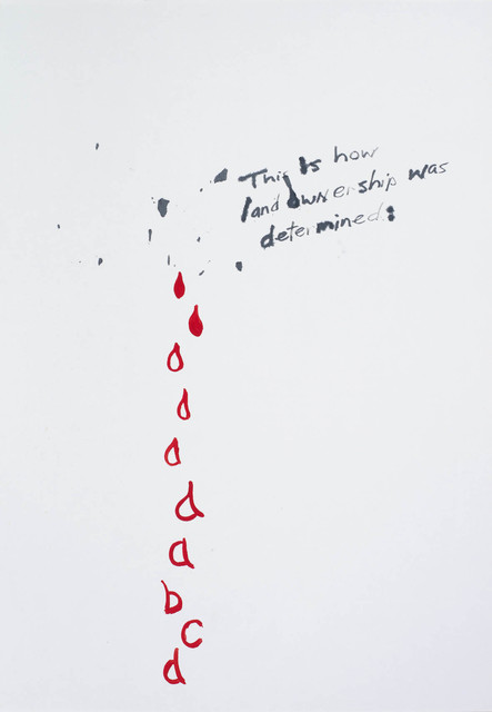 , 'No 5 (This is How Land Ownership was Determined),' 1987, Contemporary Art Gallery