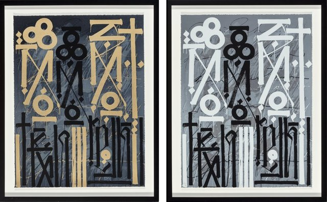 RETNA, 'Eastern Realm (Two Works)', 2014, Heritage Auctions