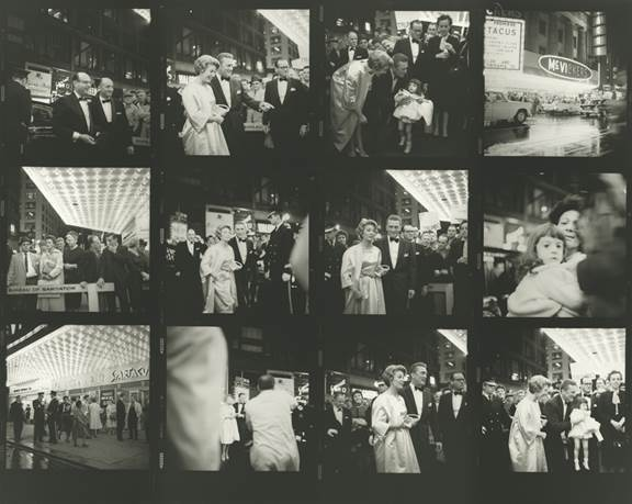 ", 'VM1960W02526-070MC - Untitled (Contact Sheet) 1960, Kirk Douglas at the premiere of the movie ""Spartacus"",' Printed 2017, KP Projects"
