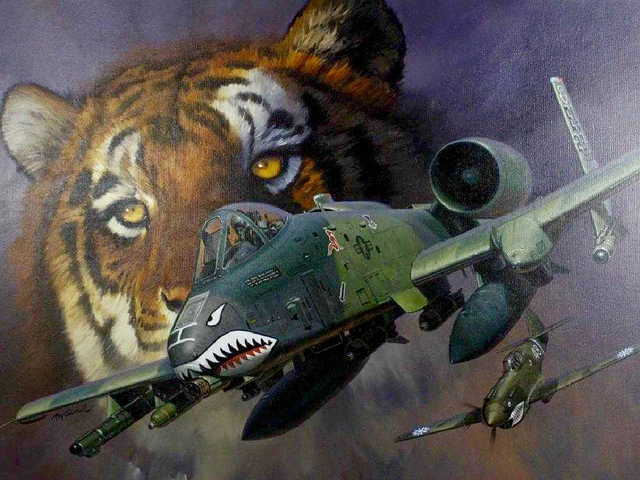 Roy Grinnell, 'Tiger & Fighter Plane', 20th Century, The Illustrated Gallery