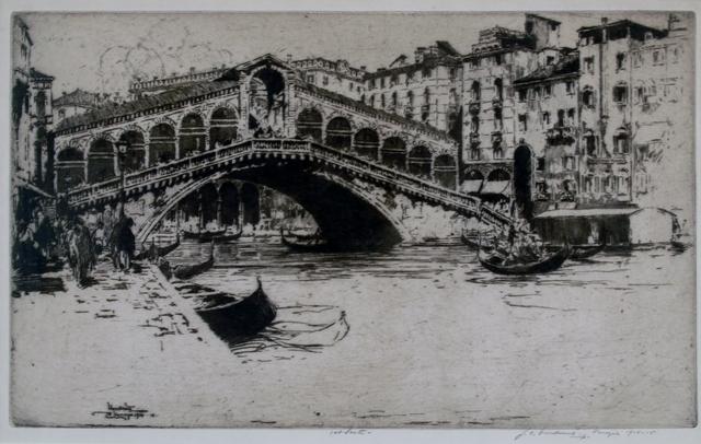 Jan Vondrous, 'Rialto Bridge, Venice', 1914, Private Collection, NY